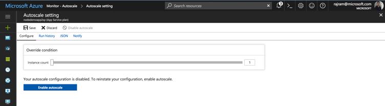 Microsoft Azure AutoScale
