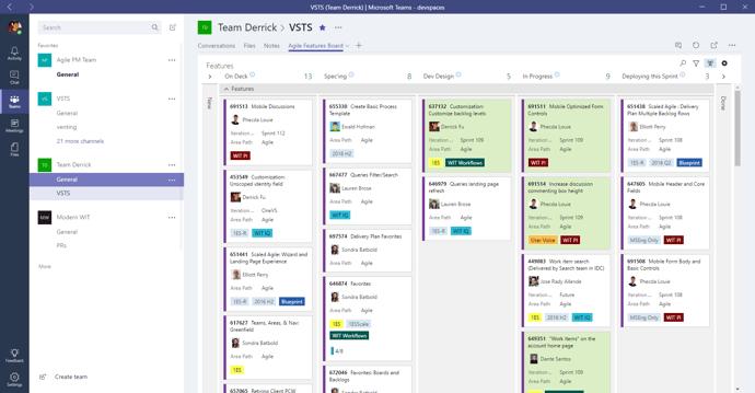 Microsoft Teams Dashboard